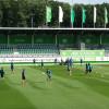 1. Training im AOK-Stadion: Große Bühne für Mario Gomez