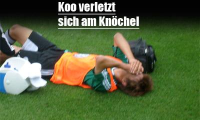 Koo verletzt sich am Knöchel