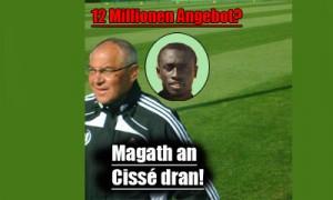 VfL Wolfsburg interessiert an Demba Cissé