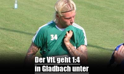 Wolfsburg verliert in Gladbach