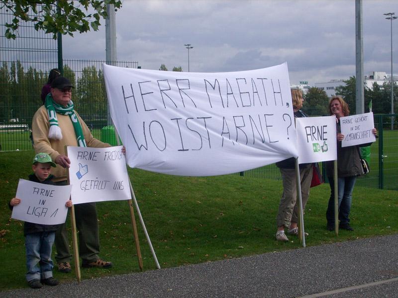 Fanprotest Arne Friedrich VfL Wolfsburg
