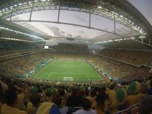 Das bis auf den letzten Platz gefüllte Stadion