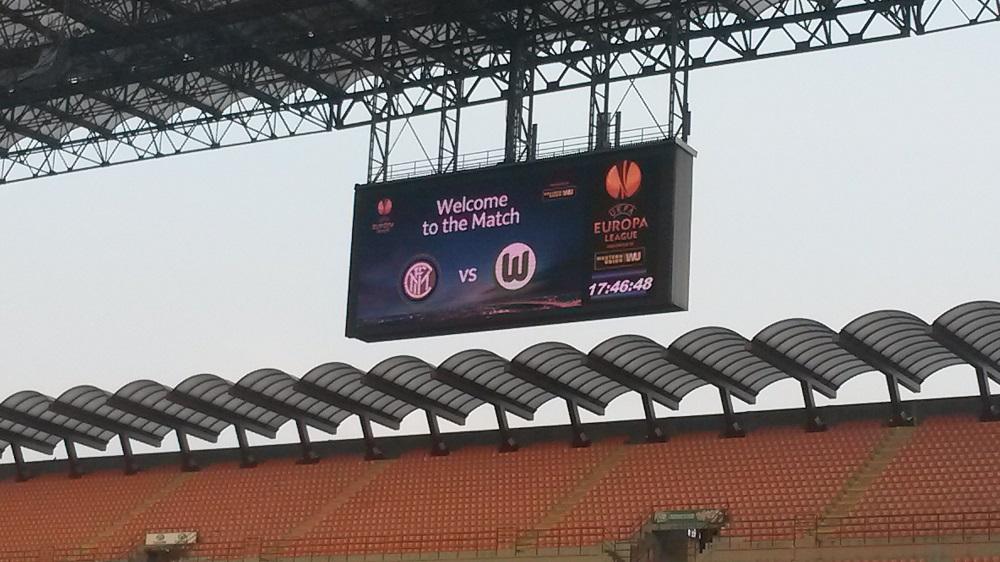 Giuseppe Meazza Stadion Anzeigetafel
