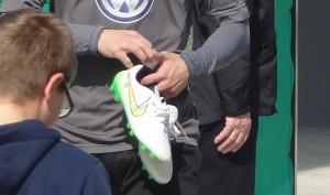 Objekt der Begierde: Die Schuhe der Spieler.