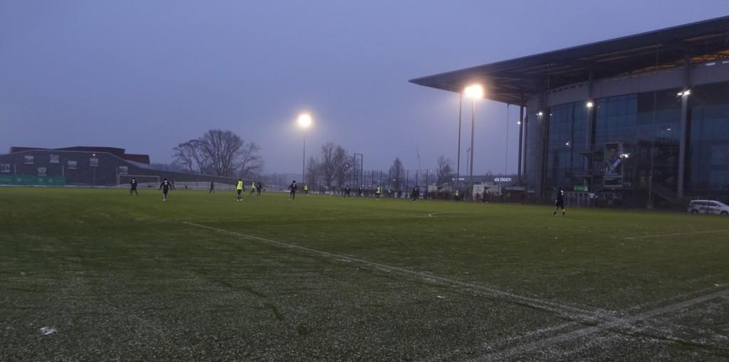 Stadion-Schnee