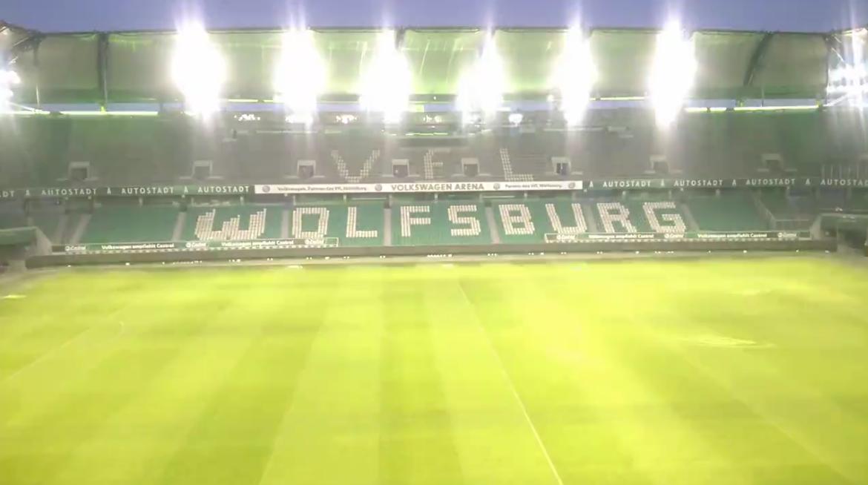 Volkswagen Arena Stadion Lichtshow Licht