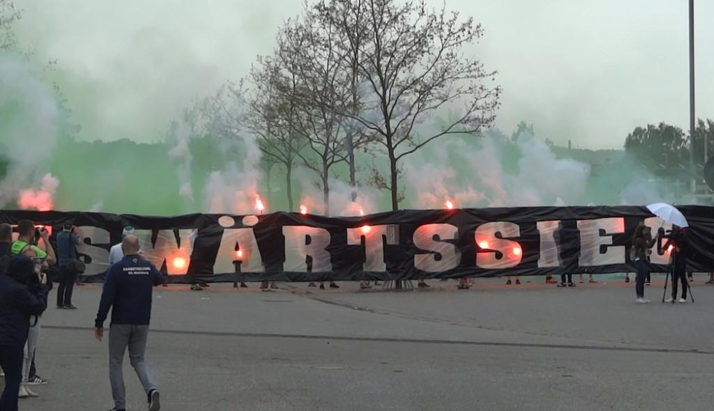 Banner Auswärtssieg Fans