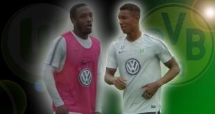 Die beiden 19-jährigen Talente des VfL Wolfsburg, Kaylen Hinds (links) und Felix Uduokhai, stehen vor ihrem Startelf-Debüt.