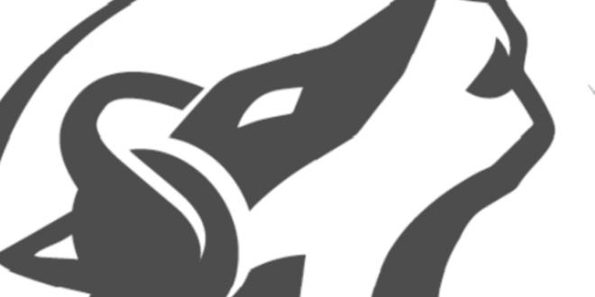 Wölferadio Logo schwarz weiß